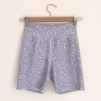Micro Spot Print Cycling shorts in Lilac