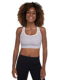 Micro Spot Padded Sports Bra in Lilac