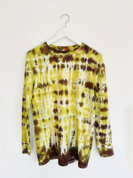Tie-dye Long Sleeve Top in Lime