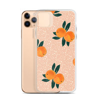 Orange Print iPhone Case