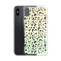 Leopard Print iPhone Case in Lime