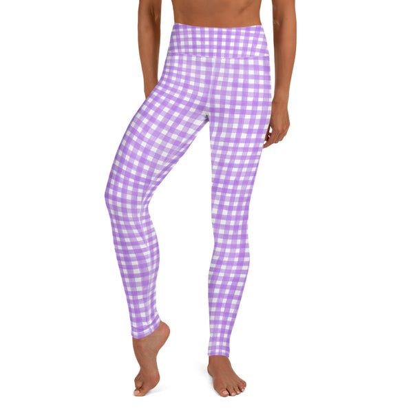 Watercolour Gingham Leggings