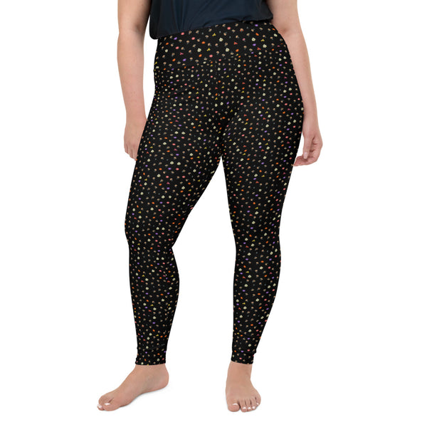 Ditsy Floral Print Plus Size Leggings