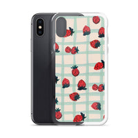 Strawberry Print iPhone Case