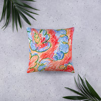 Abstract Print Reversible Cushion