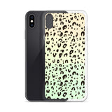 Leo print iPhone Case in mint