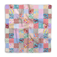 Patchwork Silk Neckerchief in Pastels