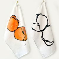 Feelin' Peachy Linen Tea Towel