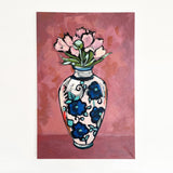 Peonies in a vase original painting