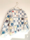 Patchwork Jacket in Blue. Kikina Designs x My Mama's Quilts