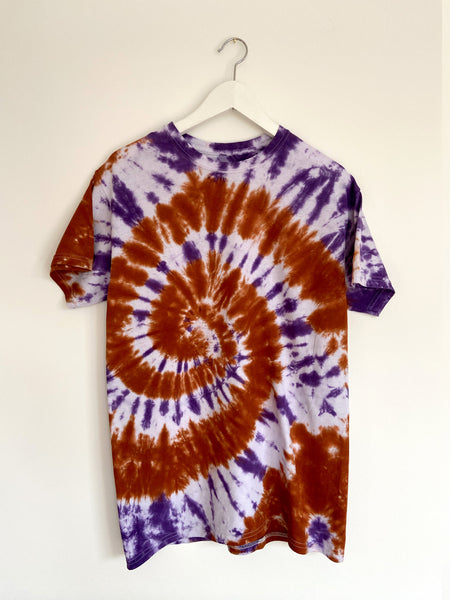 Tie-dye Short sleeve Top in Trendy Purple