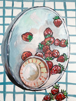 Strawberries original painting
