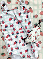 Strawberry print swimsuit