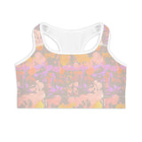 Tie-Dye Painted Sports Bra
