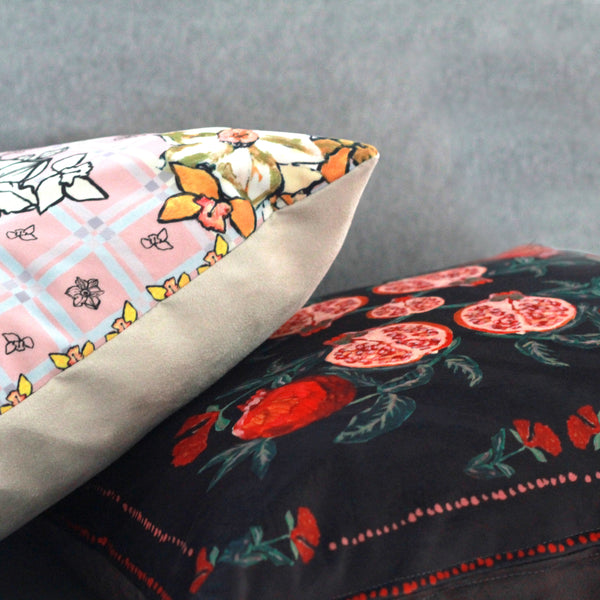 Two Velvet Cushions with the Scarf Print pre-order