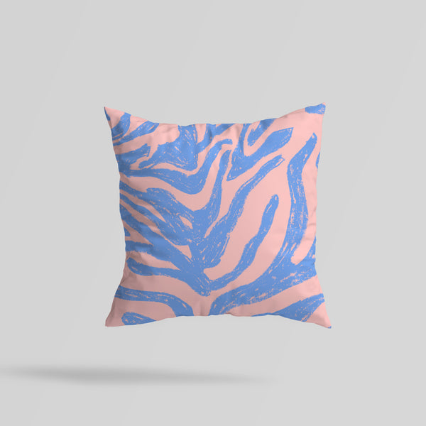 Zebra Print Reversible Cushion. Made to Order.