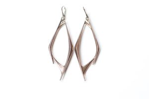 Bone Steel Earrings