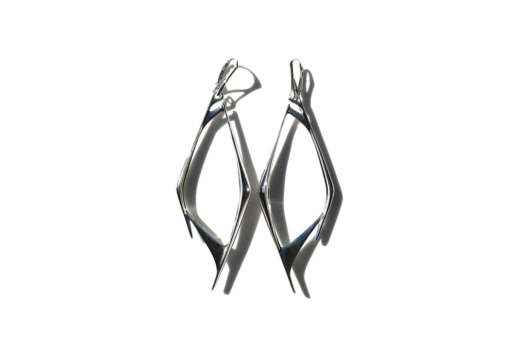 Bone Earrings in silver 925