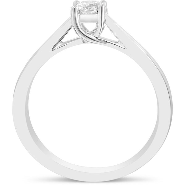 1/4 carat white gold diamond ring for women - 4 claw - G&S Diamonds