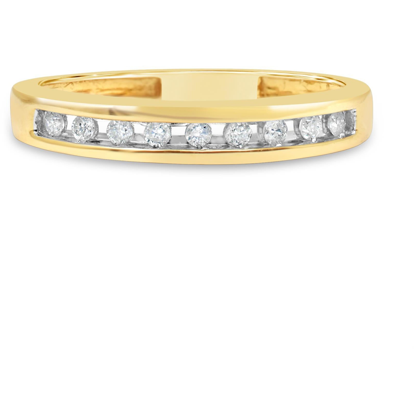eternity ring for women in yellow gold ring with channel of stunning natural diamonds