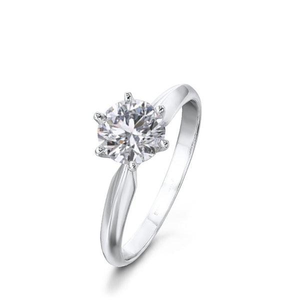 DIAMOND RING 1 CARAT SOLITAIRE WITH DIAMOND GRADING REPORT - G&S Diamonds