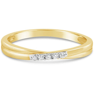 DIAMOND RING FOR WOMEN - ETERNITY STYLE YELLOW GOLD RING - G&S Diamonds