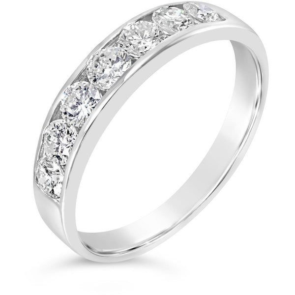 white gold diamond eternity ring premium quality
