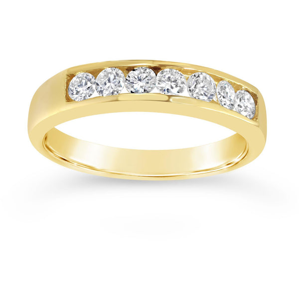 eternity rings for womens finger sizes in yellow gold with premium quality diamonds