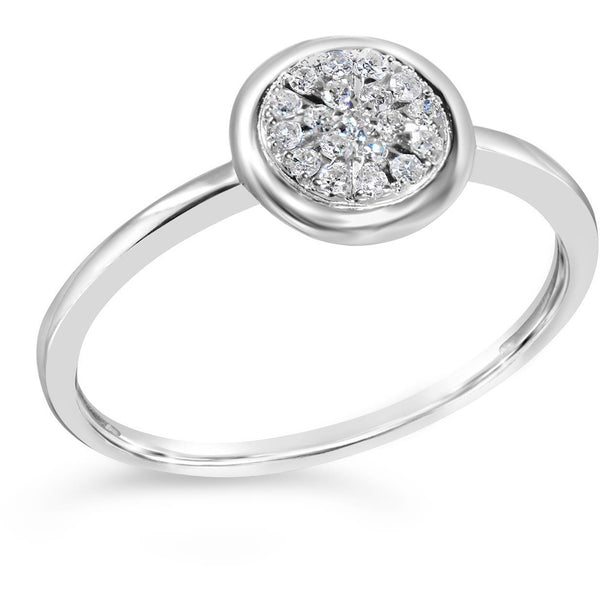 diamond ring for women with 2 carat look diamond centre