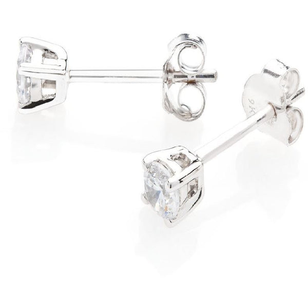 DIAMOND EARRINGS STUDS FOR WOMEN 3/8 CARAT IN WHITE GOLD PREMIUM QUALITY DIAM... - G&S Diamonds