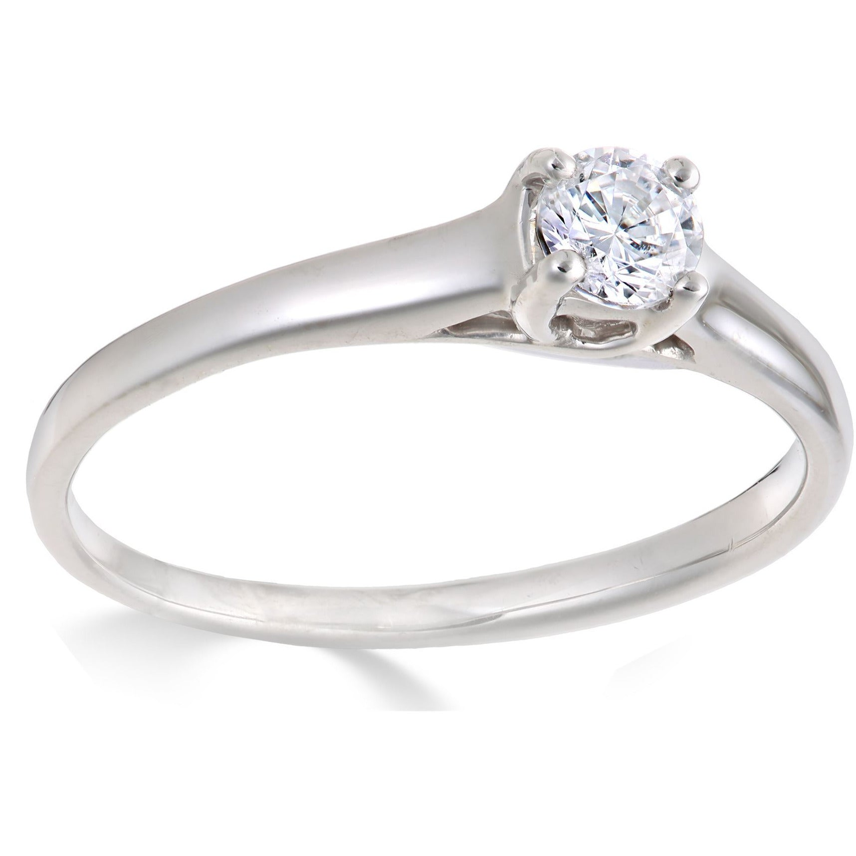 DIAMOND ENGAGEMENT RINGS FOR WOMEN 0.20 CARAT PREMIUM QUALITY IN WHITE GOLD - G&S Diamonds