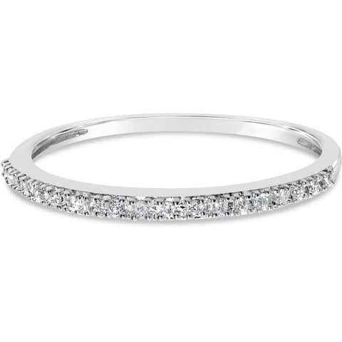 Stackable Diamond Eternity Band - One of our best white gold rings for women