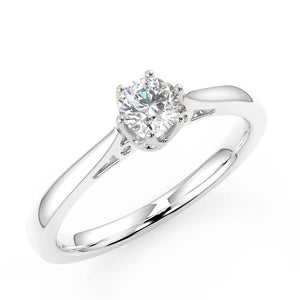 white gold diamond engagement ring with 1/4ct solitaire diamond