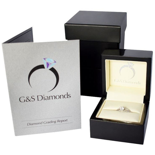 HEAVY TWO TONE RING WITH 0.20CT HIGH QUALITY DIAMOND SOLITAIRE - G&S Diamonds