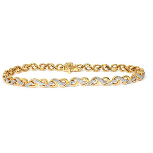 YELLOW GOLD DIAMOND SWIRL BRACELET - G&S Diamonds