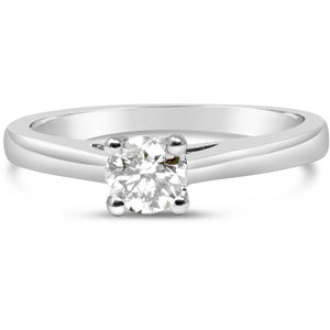 premium quality 1/3 carat diamond solitaire engagement ring  …