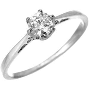 WHITE GOLD SOLITAIRE RING WITH 1/3CT PREMIUM QUALITY NATURAL DIAMOND - G&S Diamonds
