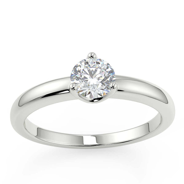 Diamond engagement ring for her 3 claw setting with premium quality natural diamond