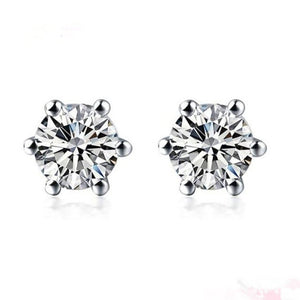 PLATINUM AND DIAMOND EARRINGS WITH 1/5 CARAT DIAMOND (TOTAL) - G&S Diamonds