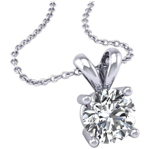 DIAMOND SOLITAIRE PENDANT WHITE GOLD FG VS/SI QUALITY (0.3 CARATS) - G&S Diamonds