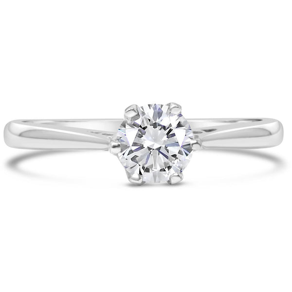 premium 1/3 carat diamond solitaire white gold engagement ring