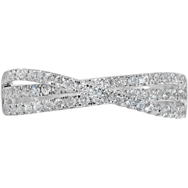 Diamond Eternity Ring for women in white gold with 1/2 carat of exclusive quality diamonds