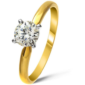 1 Carat diamond ring ( VS clarity) in 18ct yellow Gold