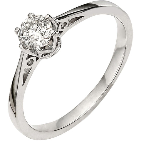 PREMIUM 1/6 CARAT DIAMOND SOLITAIRE ENGAGEMENT RING - G&S Diamonds