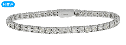 5 carat diamond 14k white gold bracelet for women