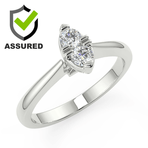 Marquise shape diamond ring white gold for ladies