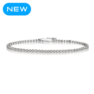 1 carat diamond white gold bracelet for women