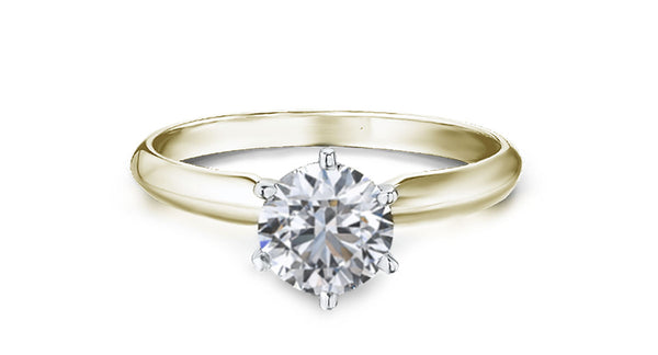 1 Carat diamond ring ( VS1 clarity) in 9ct yellow Gold