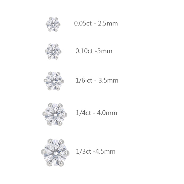 Diamond Earring Studs In White Gold
