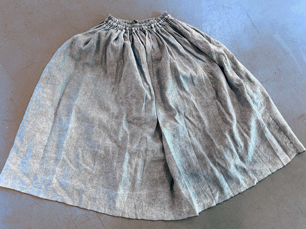 Wolke full linen skirt in cloudy denim look